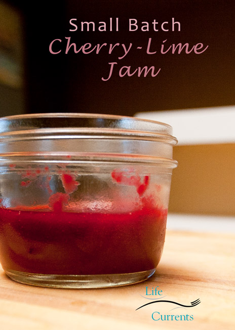 Small Batch Cherry-Lime Jam