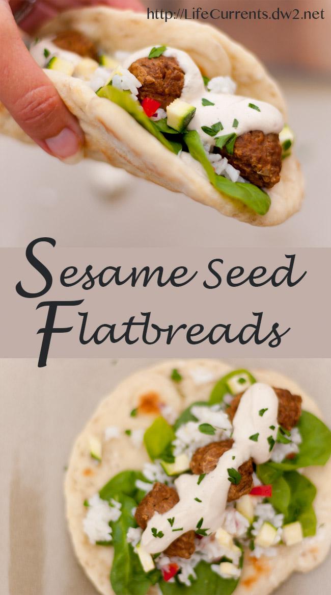 Sesame Seed Flatbread