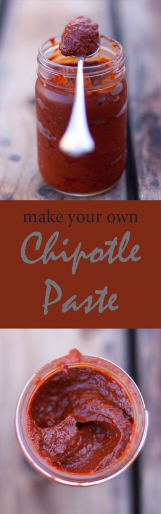 chipotle paste long pin with two images for Pinterest