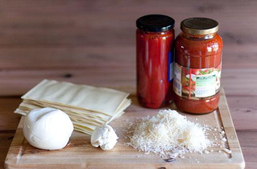 lasanga ingredients vegetarian lasagna with red peppers and fresh mozzarella https://lifecurrentsblog.com #lasagna #comfortFood #yum #food #recipe #vegetarian