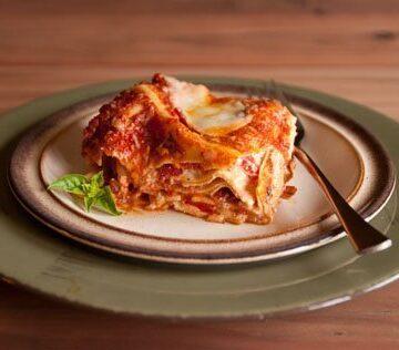 hot and fresh lasagna