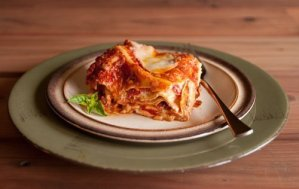 hot and fresh lasagna