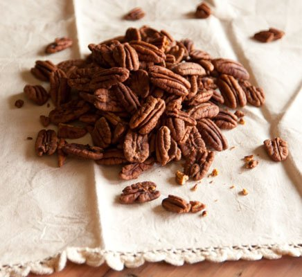 Sugared Pecans featured recipe for Crisp Pecans