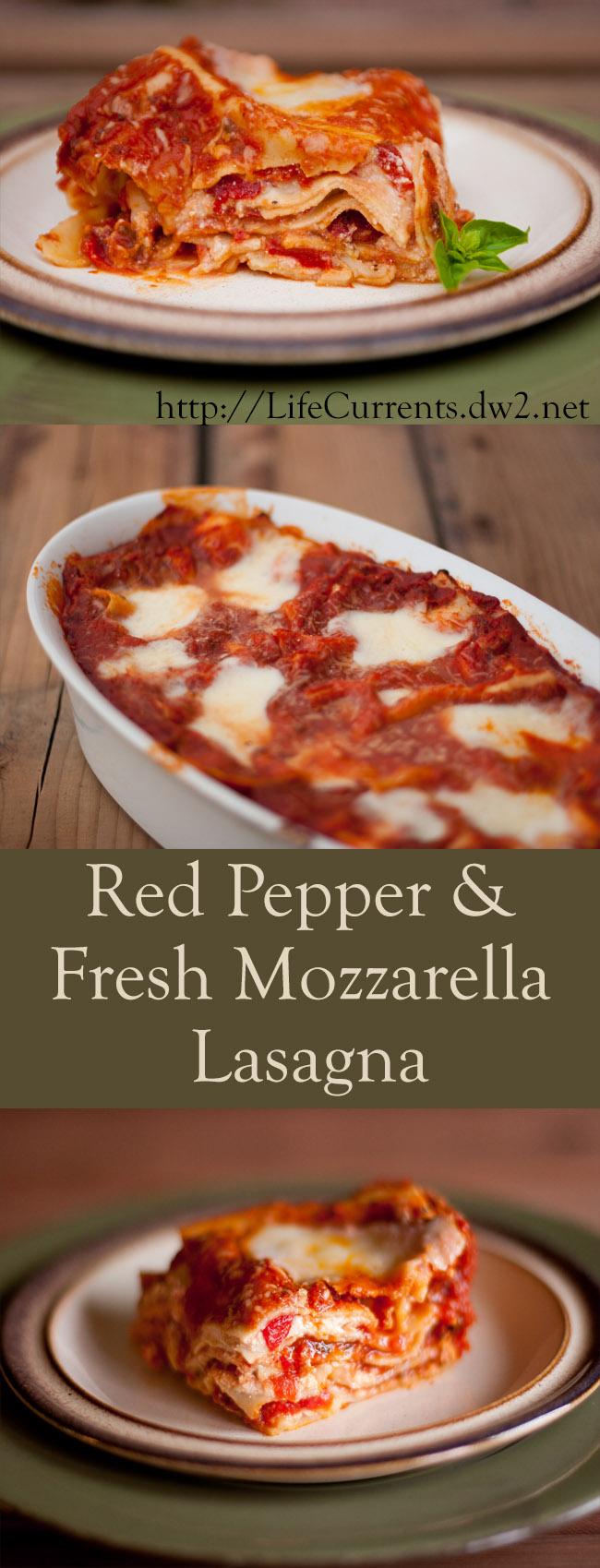 Red Pepper and Fresh Mozzarella Lasagna Recipe