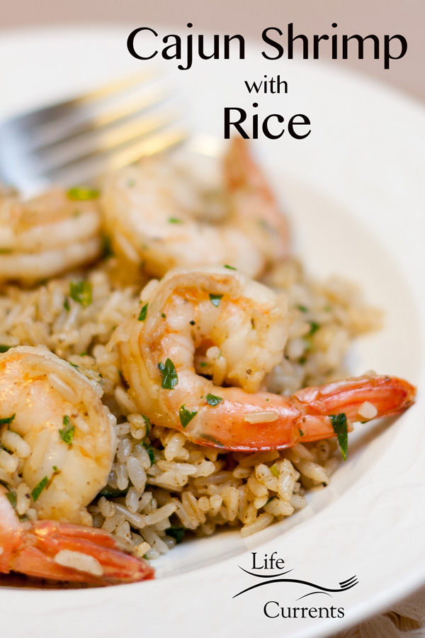 Cajun Shrimp with Rice Recipe - easy weeknight meal