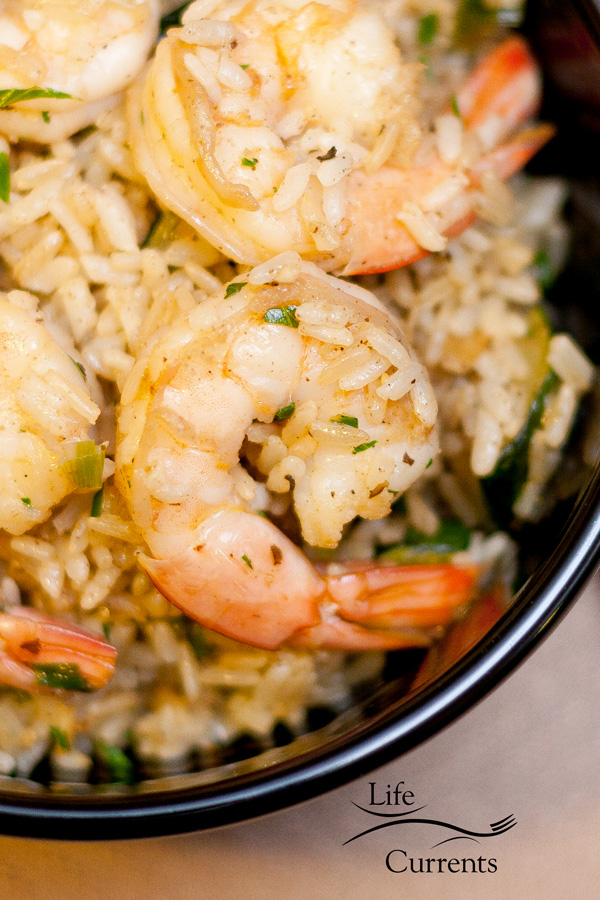 This Cajun Shrimp with Rice is a great weeknight meal. It comes together quickly, is really tasty, and is nice and healthy. Also,you'll find a great recipe for a homemade Cajun Spice Blend.