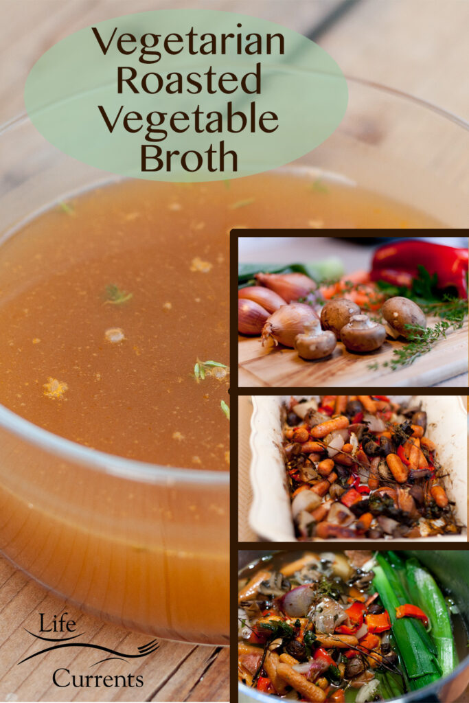 Veggie broth collage with title