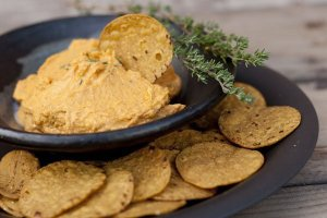 butternut squash, chipotle, and thyme combine to make a slightly sweet and spicy dip