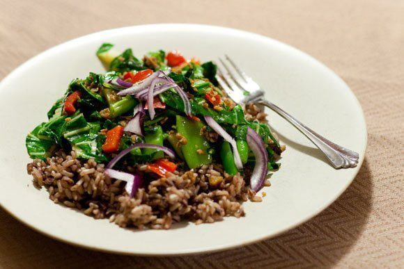 Healthy Cleanse - a review so far bok choy dinner