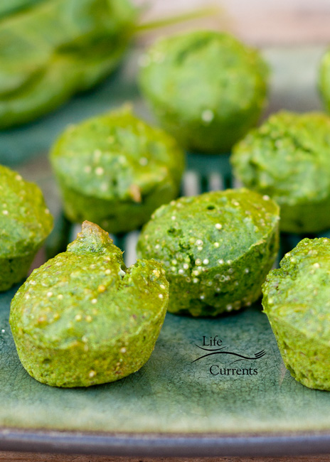 Spinach Quinoa Muffins Recipe - healthy mini muffins your family will love