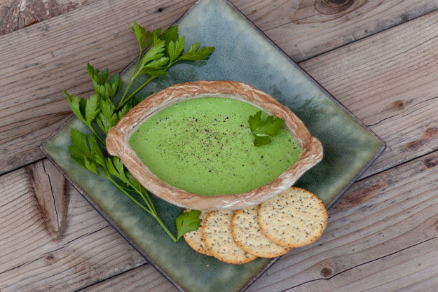 Spinachy Green Goddess Dressing or Dip for all your veggie needs Adds lots of herby goodness to your salad or your veggie platter