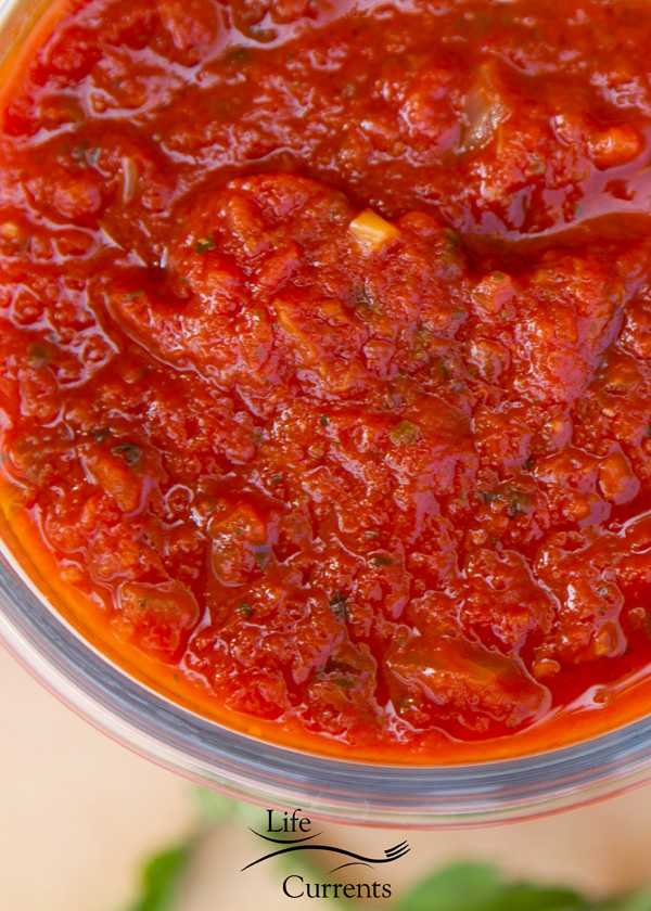 Homemade Crock Pot Marinara Sauce just look at all those yummy spices