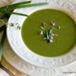 broccoli pea soup with lentils
