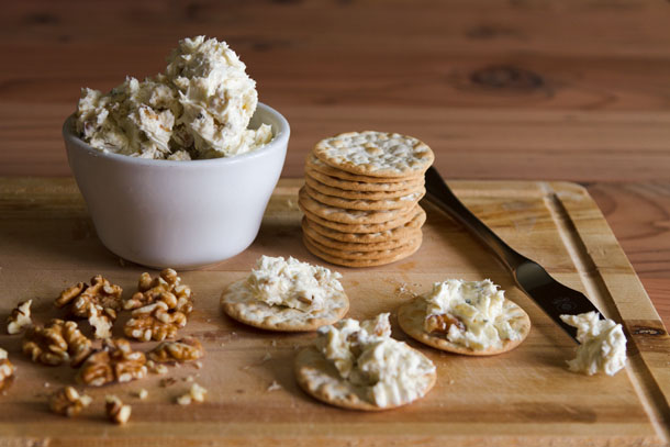 blue This Blue Cheese Spread is super yummy and really easy to whip together, your guests will think you're a genius. Serve it with crackers, endive, figs, honey, whatever you can come up with! #appetizer #snack #easy https://lifecurrentsblog.com spread