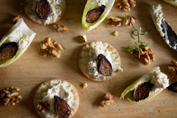 This Blue Cheese Spread is super yummy and really easy to whip together, your guests will think you're a genius. Serve it with crackers, endive, figs, honey, whatever you can come up with! #appetizer #snack #easy https://lifecurrentsblog.com