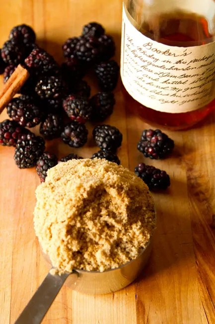 Maple - Brown Sugar - Bourbon Blackberries: blackberries in maple bourbon syrup