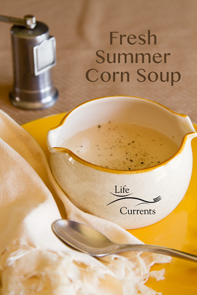 Fresh Summer Corn Soup is creamy, delicious, and lightly sweet from the fresh summer corn. It's the perfect way to enjoy all that amazing summer produce!