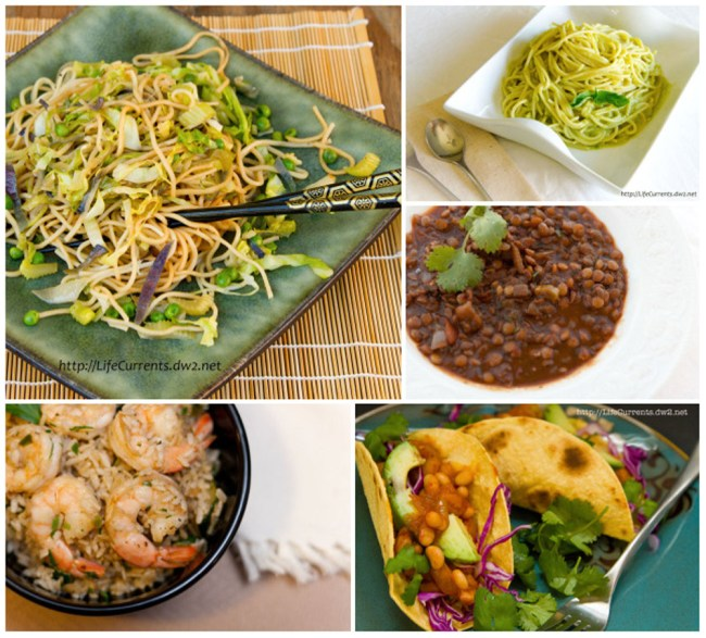 Looking for something quick, easy, and healthy for dinner? Here are a few of my favorites.