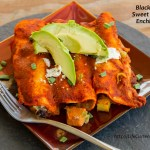 Black Bean Sweet Potato Enchiladas | Life Currents https://lifecurrentsblog.com
