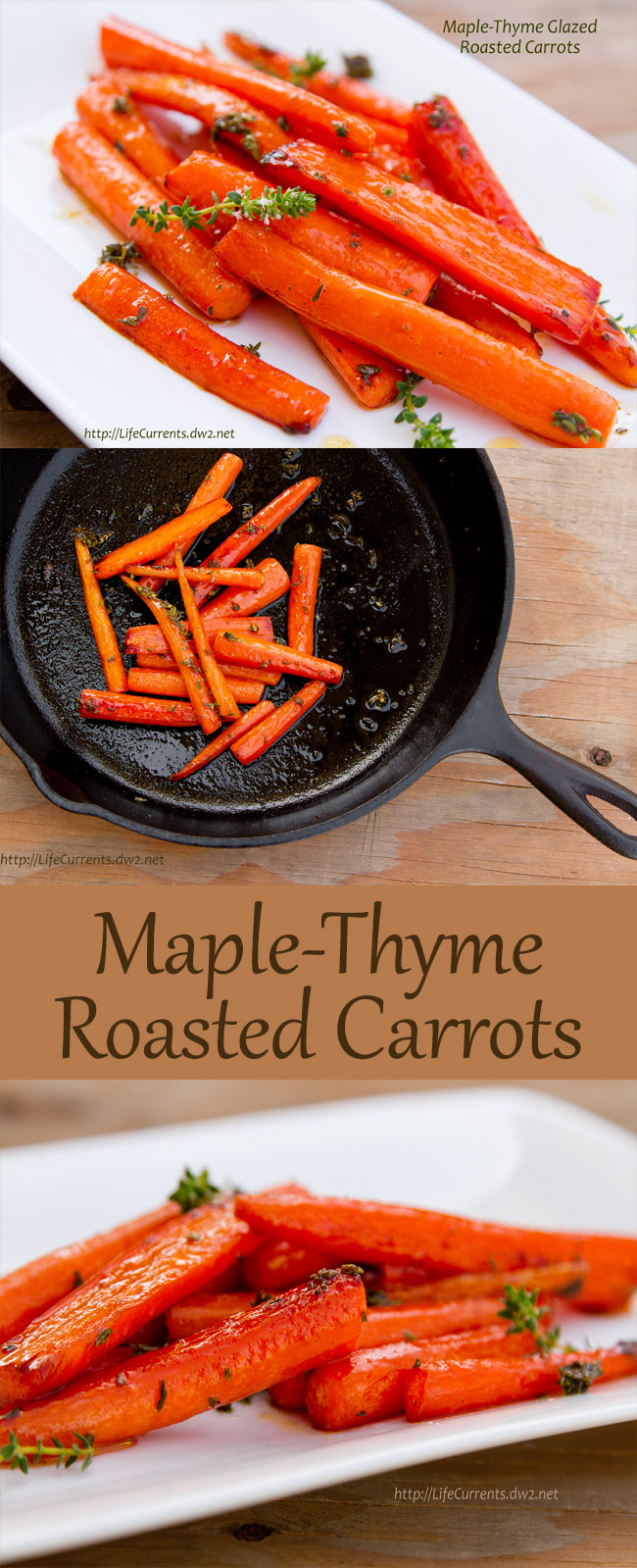 A yummy and simple side dish of Maple-Thyme Roasted Carrots