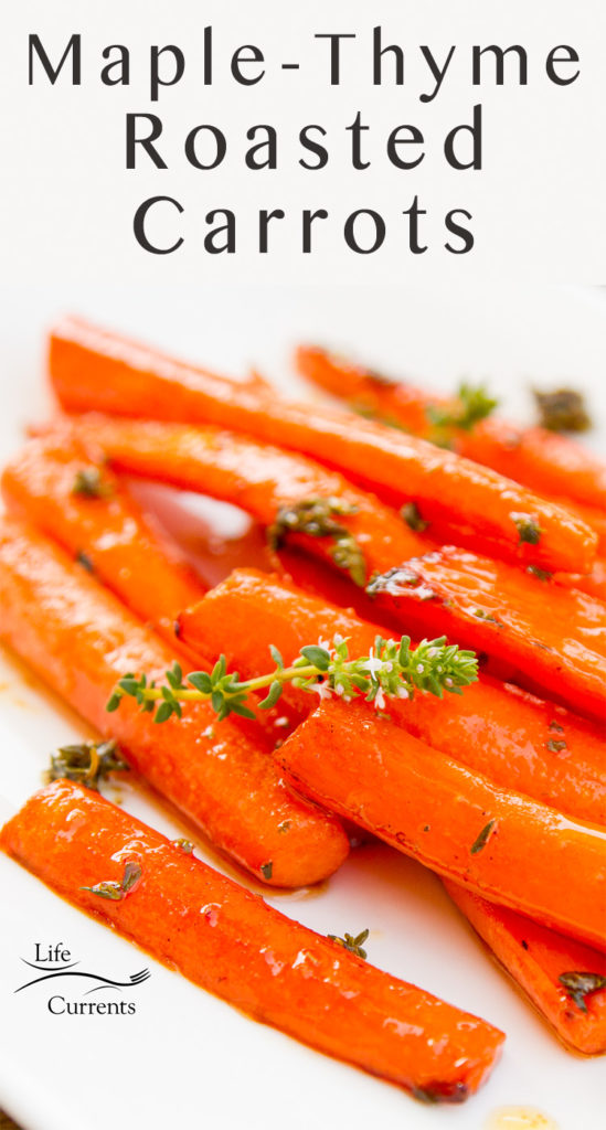 Maple Thyme Roasted Carrots