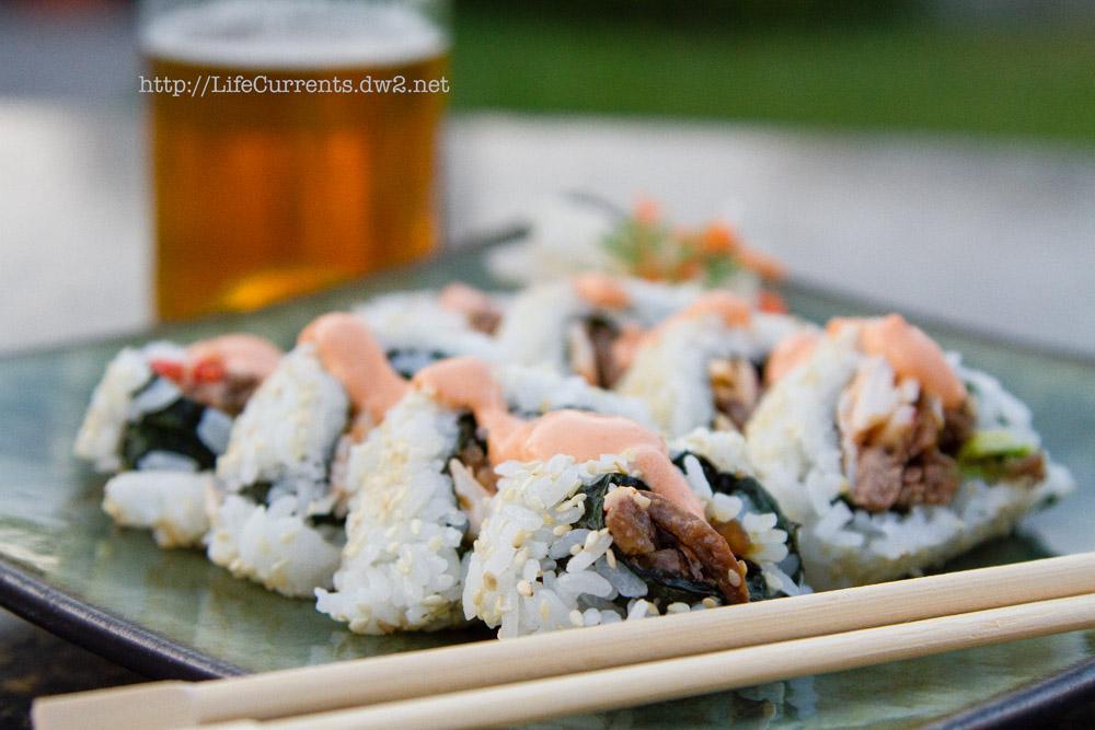 The Dan Roll: Teriyaki Steak Sushi Roll   Life Currents California Roll Sandwich https://lifecurrentsblog.com