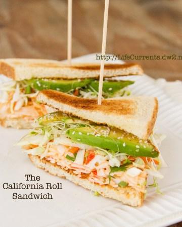 California Roll Sandwich  https://lifecurrentsblog.com