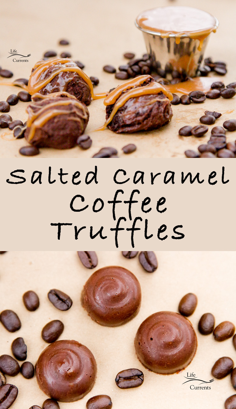 Salted Caramel Coffee Truffles