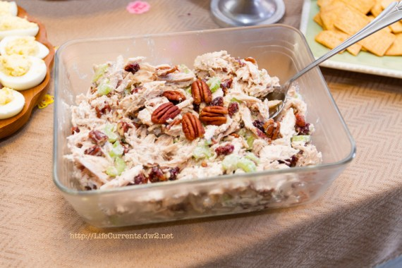 Chicken Salad | Life Currents Maria's Baby Shower: As many of you know, my brother and sister in-law are expecting their first baby soon. Here are some pictures from the shower! #babyshower #party #shower