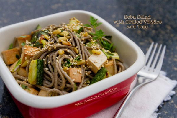 Soba Noodle Salad with Grilled Veggies and Tofu