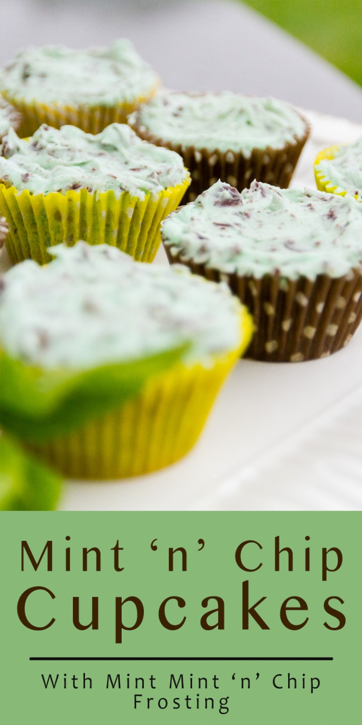 Mint 'n' Chip Cupcakes with Mint 'n' Chip Frosting