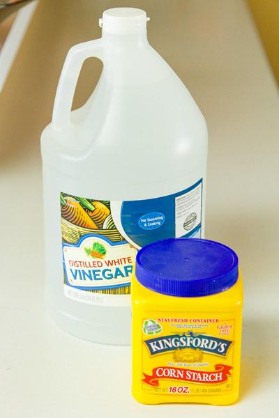 vinegar and cornstarch