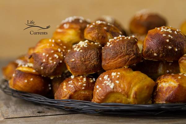 Homemade Pretzels - for an impressive display, load them all up in a big pile!