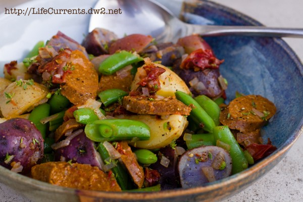 Spicy Sausage, Baby Potatoes, and Snap Peas   Life Currents