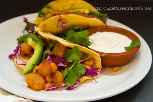 White Bean - Potato Tacos