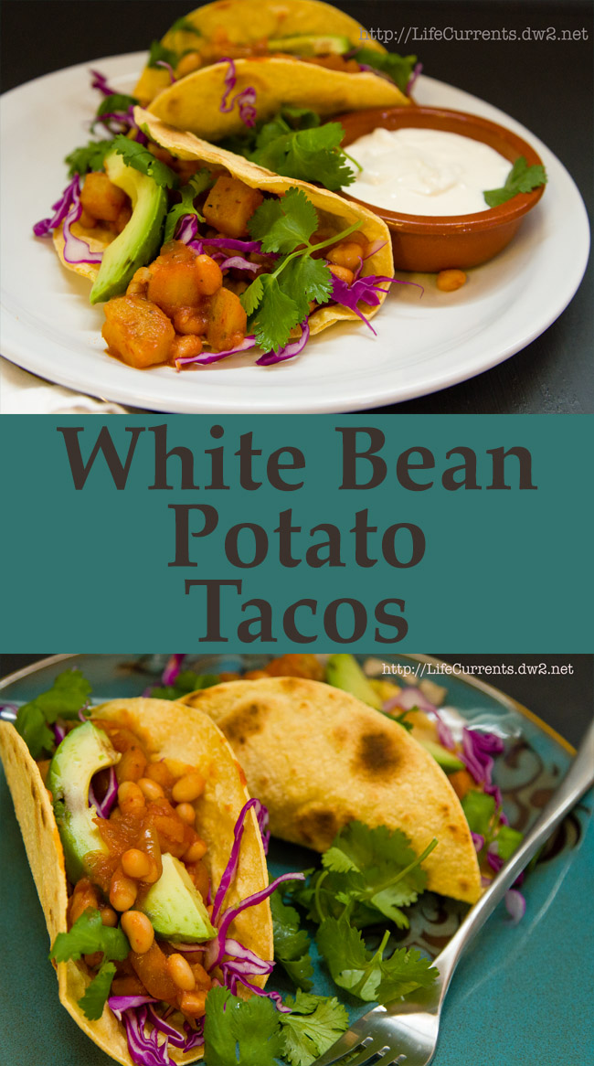 White Bean - Potato Tacos Recipe Long pin