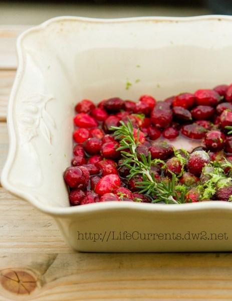 Simple Roasted Cranberry Sauce | Life Currents https://lifecurrentsblog.com