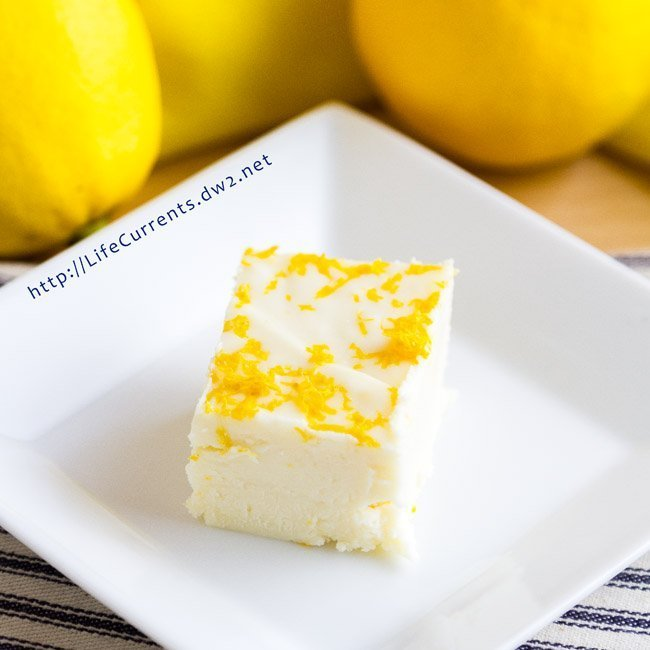 Lemon Fudge {just be nice} easy dessert quick lemon Meyer lemon