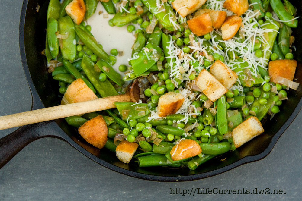Creamy Skillet Peas: a great side dish for any occasion!