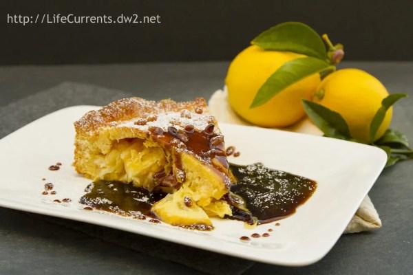 Cornmeal Cookies with Lemon Icing | Life Currents Lemon Pine Nut Tart with Coffee Caramel Sauce