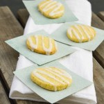 Cornmeal Cookies with Lemon Icing | Life Currents https://lifecurrentsblog.com Lemon Pine Nut Tart with Coffee Caramel Sauce