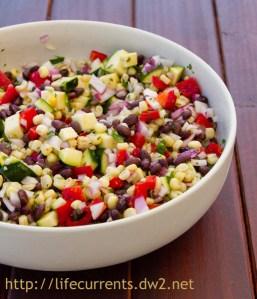 Mexican Cron Salad | Life Currents #Mexican #vegan #salad