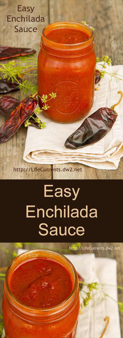 Just mix a few ingredients together, simmer for a few minutes, and voila! You have an excellent enchilada sauce!