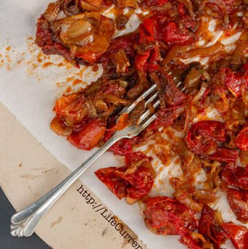 Balsamic Roasted Tomatoes with Onions