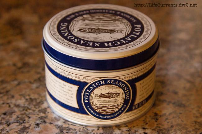 a tin of potlatch seasoning