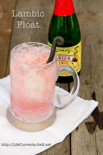 Watermelon Agua Fresca featured recipe for Lambic Ice Cream Float #dessert #iceCream #beverage #beer