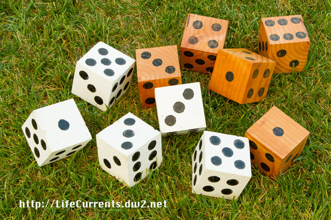 DIY Lawn Dice made from scraps we had around the garage by Life Currents