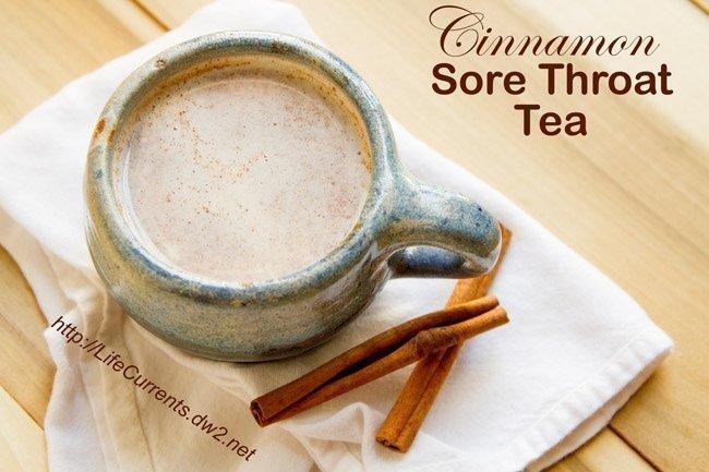 Cinnamon Sore Throat Tea - feel better drink - Life Currents