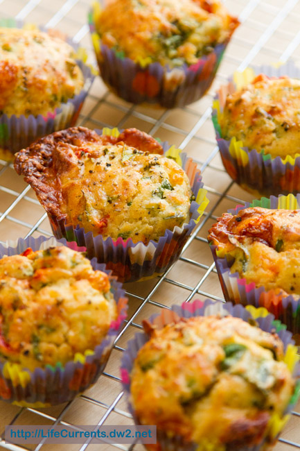 Savory Spinach Parmesan Muffins https://lifecurrentsblog.com