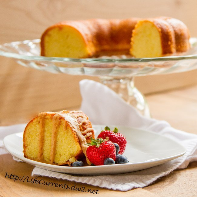Almond Cake with coconut Butter Drizzle by Life Currents